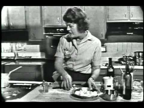 Julia Child making beef bourguignon #JuliaChild