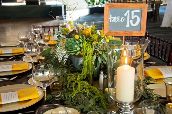 Table number ideas- like most of the stuff on the table