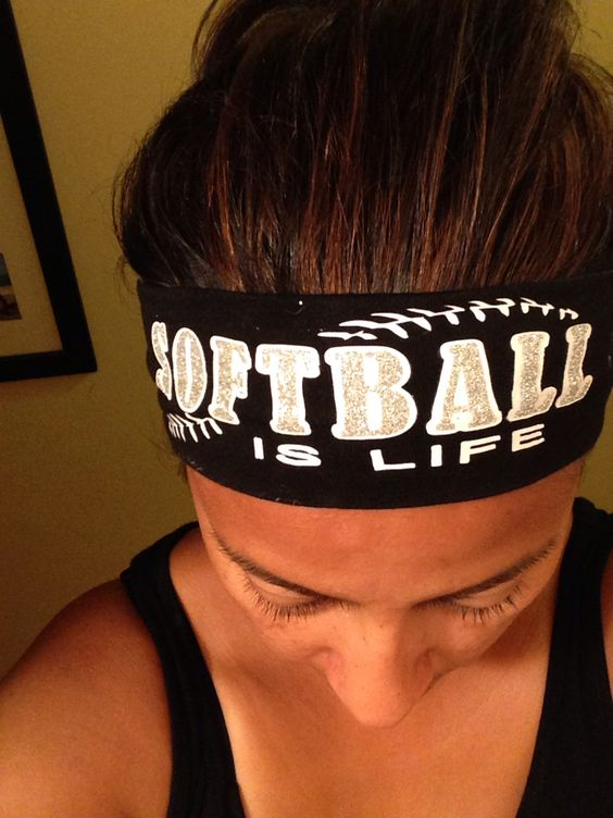 Softball gift exchange. Headbands with my loved Silhouette.