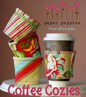 So many fun ideas for mother's day or friend gifts.  I love the coffee cozies!