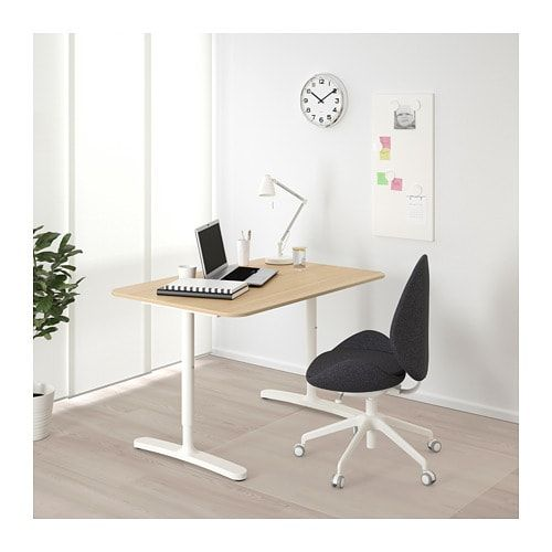 Bekant Desk White Stained Oak Veneer White 47 1 4x31 1 2 Ikea Ikea Bekant Ikea Bekant Desk Corner Desk
