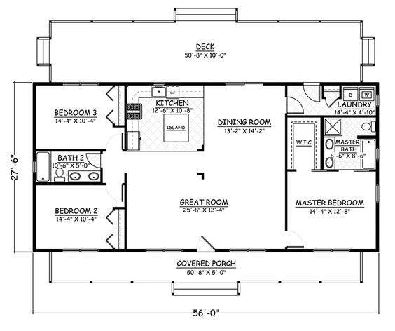 House Plan Chp 58065 At Coolhouseplans Com One Level House Plans Metal House Plans Pole Barn House Plans