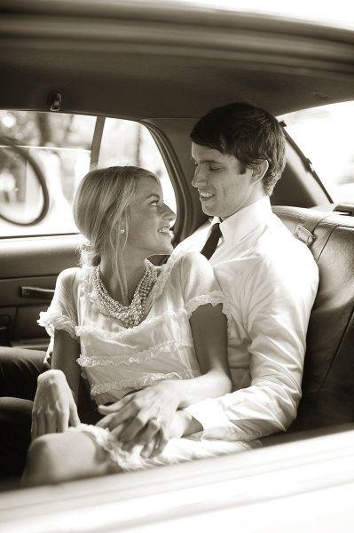 pic in car leaving wedding
