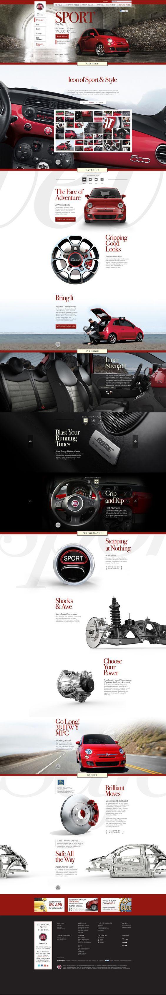 Fiat USA site by Otto Othman, via Behance