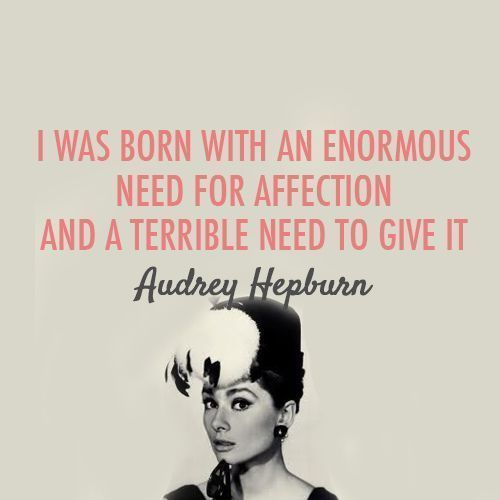 This just completely sums up my life. Audrey Hepburn.: