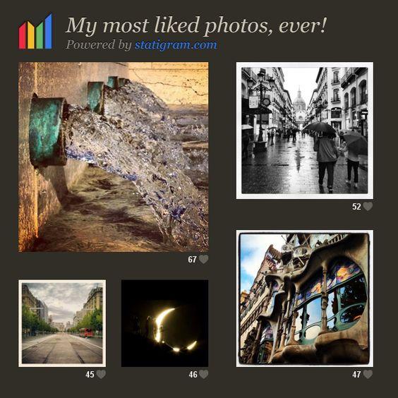 Mis mejores fotos en #Instagram (la de la luna no la he realizado yo)