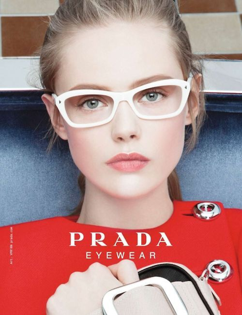 prada real or fake - White glasses by Prada. See our Prada glasses at http://www ...