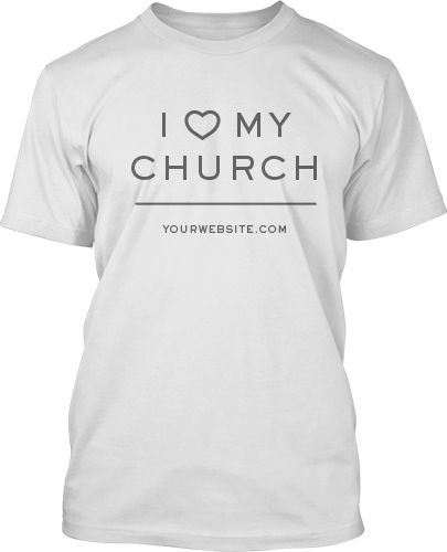 Simple I love My Church T-Shirt Design #379 | I Love My Church T ...
