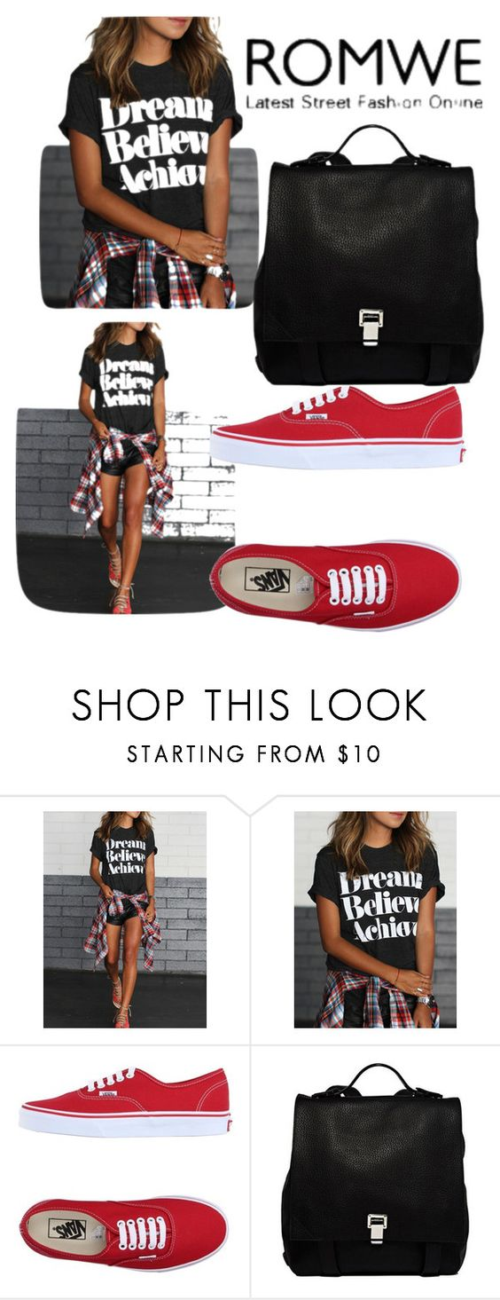 """""""Romwe.com contest"""" by sheker4 ❤ liked on Polyvore featuring Vans and Proenza Schouler"""