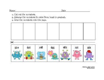 Common Worksheets » Ordering 3 Digit Numbers Worksheet - Preschool ...