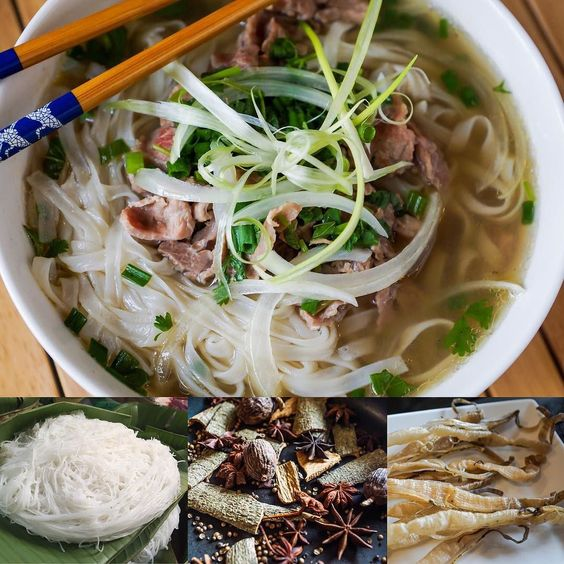 No trip to Vietnam is complete without learning how to make their famous Pho Soup!! A plethora of savory herbs and spices combined with pho noodles beef and a warm aromatic stock makes the perfect wintertime soup!! Can anyone guess what the secret ingredient in the bottom right is!? #therecipehunters #phosoup #delicious #yummy #vietnamnam #vietnam #hanoi #soup #beef #noodles #noodlesoup #chives #traditional #recipe #homemade #madewithlove by therecipehunters