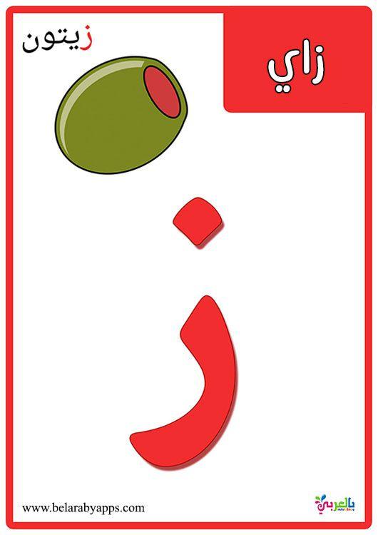 تعليم الحروف للاطفال 3 سنوات بطاقات الحروف الهجائية مع الصور بالعربي نتعلم Learn Arabic Alphabet Arabic Alphabet Learning Arabic