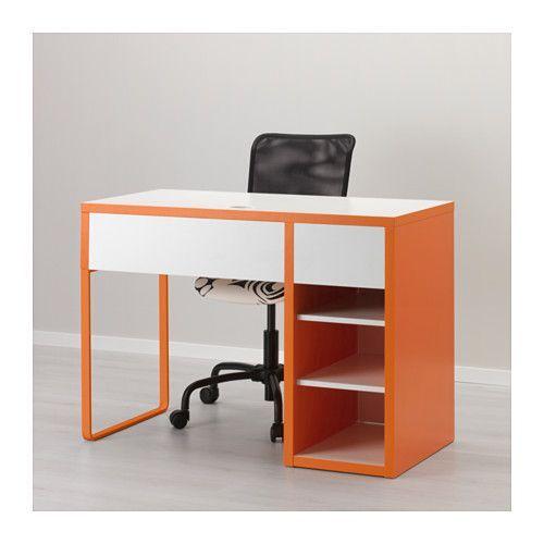 Micke Desk White Orange Ikea White Desks Micke Desk Desk