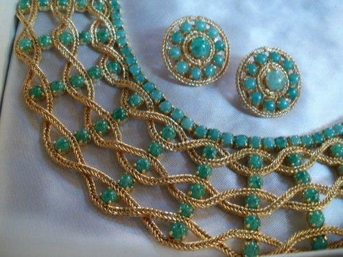 Bijoux Vintage Dior : Super vintage bijoux christian dior haute couture parure