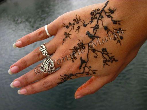 Bird Henna Tattoo: Henna, Bird On Branch And Henna Tattoos On Pinterest