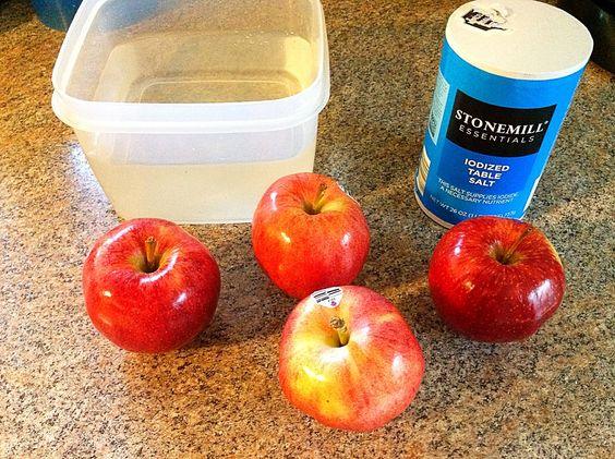 Just a teaspoon of salt in cold water keeps apple slices fresh with no change in flavor (unlike lemon).