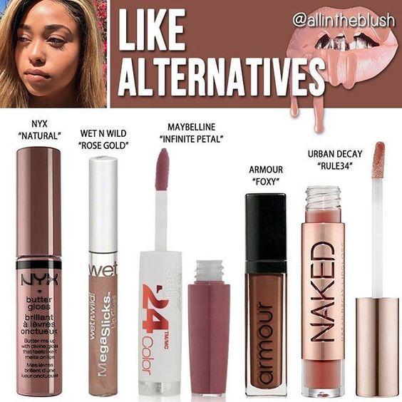 Kylie Cosmetics          Like ↞ Radaschloe ↠        Dupes