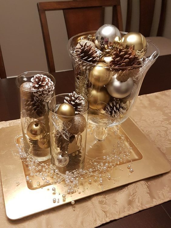 120 Christmas Diy Decorations Easy And Cheap Cheap Christmas Decorations Diy Easy Christmas Centerpieces Christmas Table Centerpieces Christmas Table Decorations