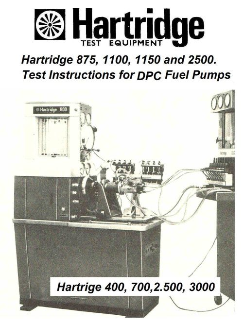 Hartridge Nozzle Testmaster Operation Manual And Parts Manua In 2021 Diesel Mechanics Nozzle Manual