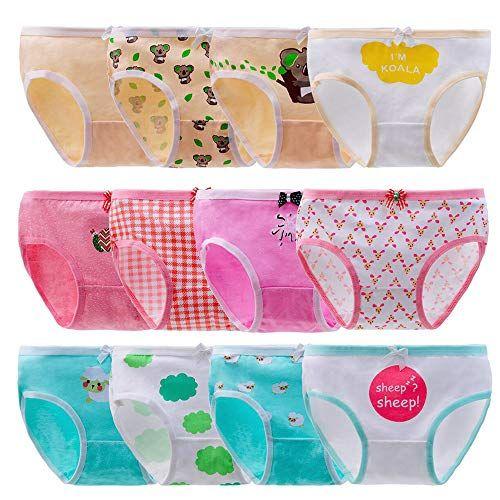 Anntry Baby 6-12 Pack Panties Soft Comfort Knickers Cotton Underwear Little Girls Assorted Briefs 2-10 Yrs