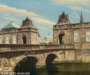 Frederik Wilhelm Svendsen (1885-1975): Marmorbroen in Copenhagen