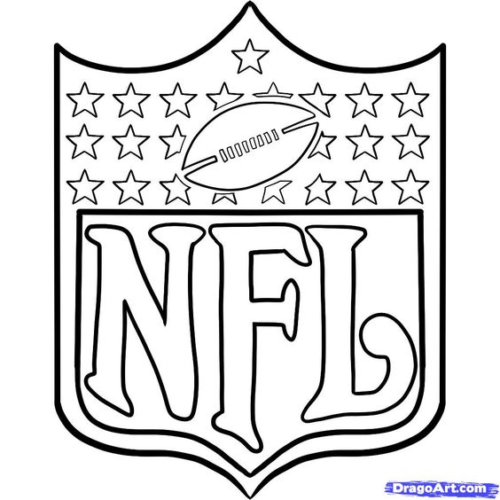 Football Coloring Pages & Sheets for Kids | Coloring pages, Logos ...