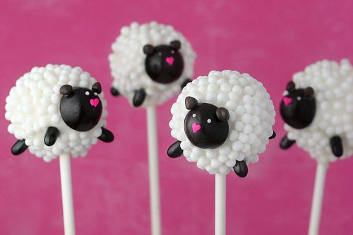 Sheep Cake Pops by Bakerella, via Flickr - Giftsoc has fallen hard for these.  They're great for baby showers and birthdays!