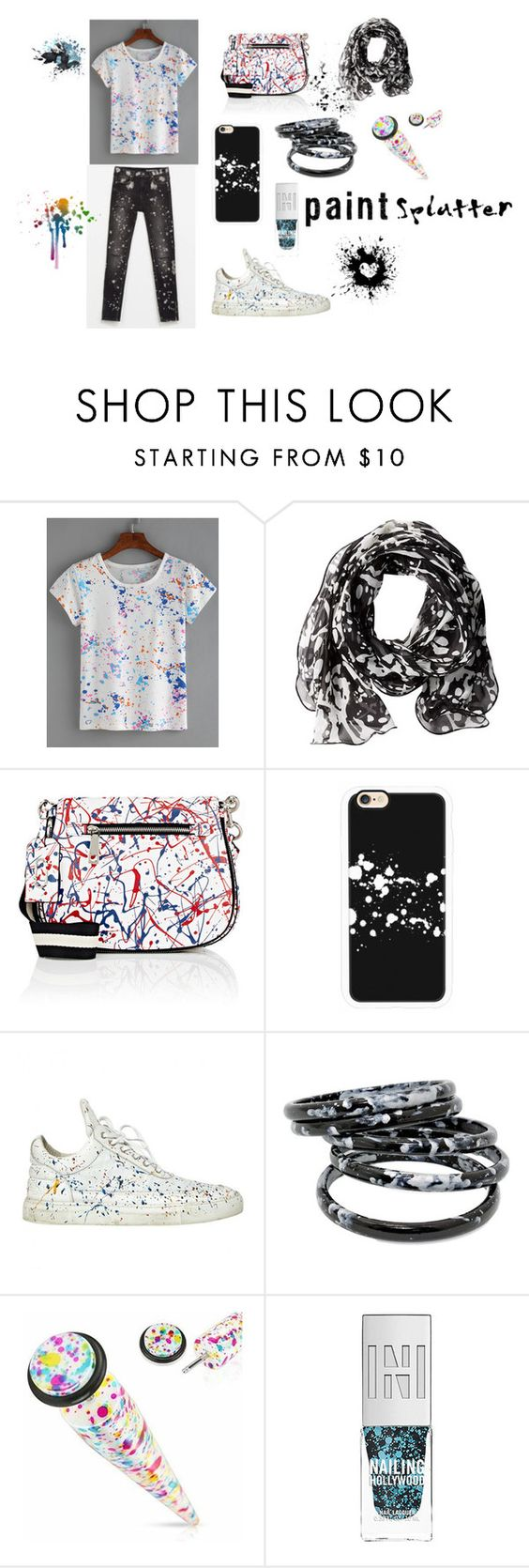 """""""Paint Splatter"""" by chicfashionista77 ❤ liked on Polyvore featuring Calvin Klein, Marc Jacobs, Casetify and Filling Pieces"""