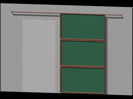 Sliding doors hardware and etsy on pinterest for Barn door screen door
