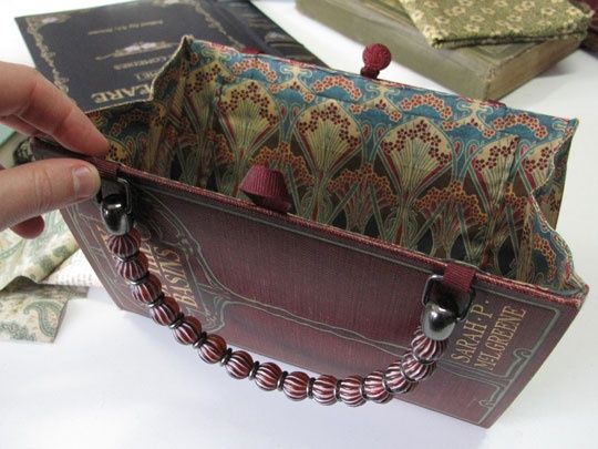 purse from a book craft-ideas