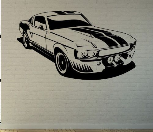 Ford Mustang Shelby Gt500 Eleanor Wall Art Stickers Home Decoration Muscle Car Ford Mustang Shelby Mustang Shelby Ford Mustang Shelby Gt500