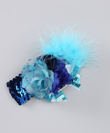 Save now on this Turquoise & Blue Sequin Marabou Headband by Candytoez on #zulily today!