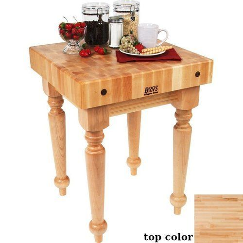 John Boos 30 Inch X 24 Inch X 4 Inch Saratoga Farm Butcher Block On Spindle Legs With Casters Maple Sarb2 M C In 2021 Butcher Block Table Butcher Block Block Table John boos butcher block table