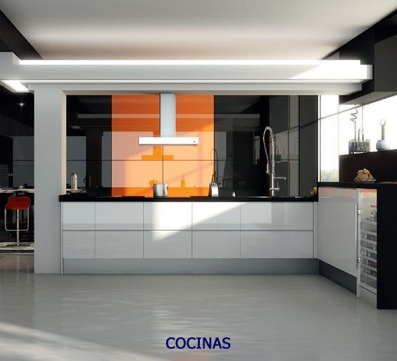 Orange High Gloss Acrylic Kitchen Cabinet Doors/Drawer Fronts ...