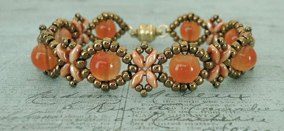 Bracelet of the Day: Sunflower Bracelet - Tangerine                                                                                                                                                     More