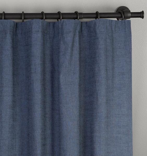 Ocean Linen/Cotton Drapery Panel  50in. x 84in.