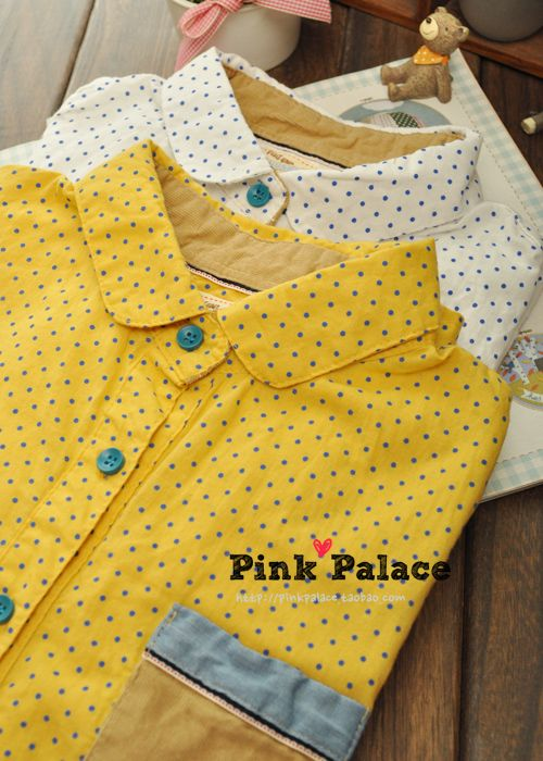 pink家 2013早春新款 韩版 水玉波点娃娃领衬衫 长袖衬衫 女-淘宝网