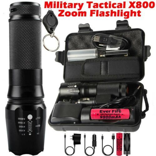 12000 Lumens Swat T6 Zoomable Tactical 18650 Flashlight Zoom Military Torch Lamp