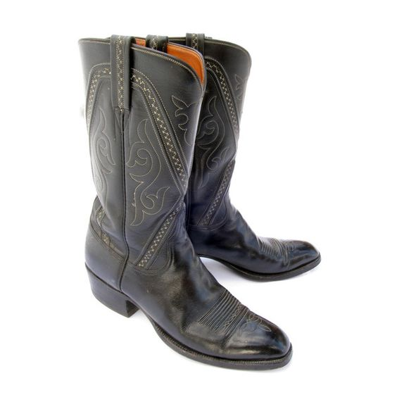 Classic 1960&39s Lucchese San Antonio French Toe Cowboy Boots Men&39s
