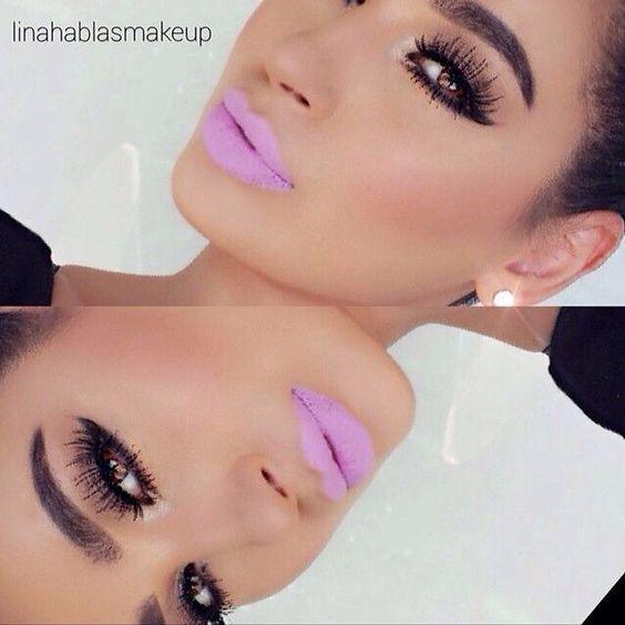 Simple Smokey Eye With Lilac Lips