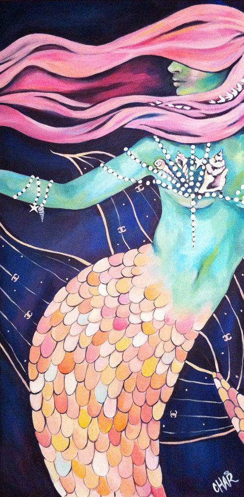 beautiful mermaid art