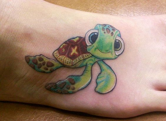 Squirt from finding nemo tattoo tattoos pinterest for 333 tattoo meaning