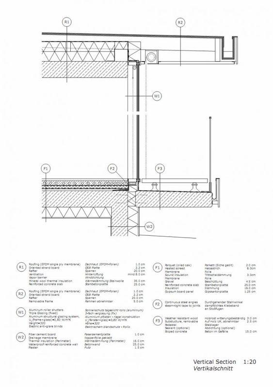 Oberlicht detail dwg  Balcony to Slab connection | Door & Windows Detail | Pinterest ...
