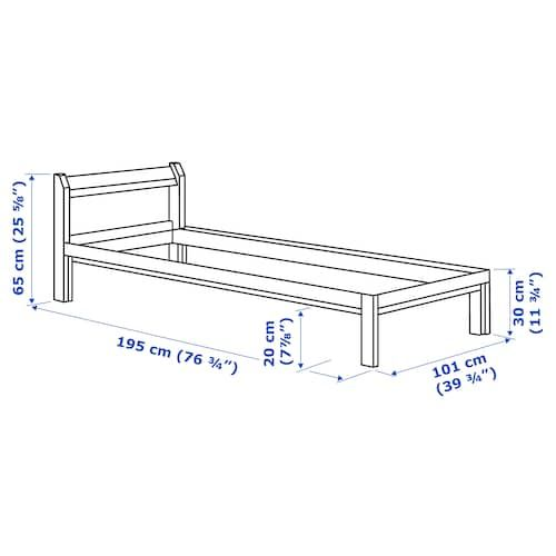 Ikea Neiden Pine Bed Frame In 2020 Bed Frame Ikea Bed Frames Solid Pine