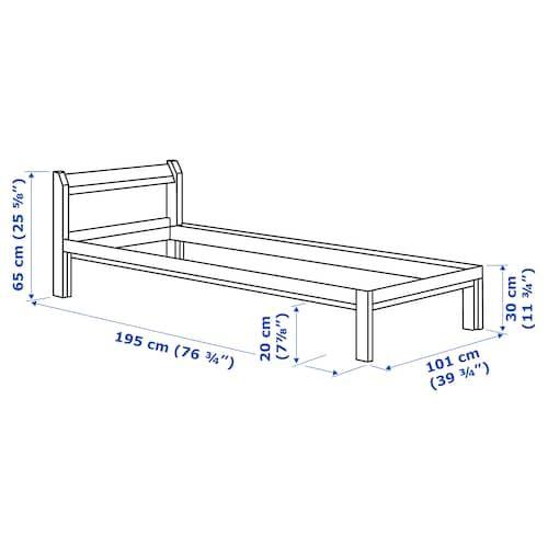 Ikea Neiden Pine Bed Frame In 2020 Bed Frame Ikea Bed Frames Solid Pine