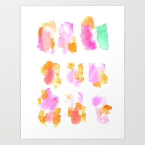 Color Color Color Art Prints By Valourine Abstract