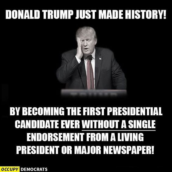 LOL! The Donald is a real groundbreaker.