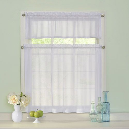 Arm & Hammer Curtain Fresh Odor-Neutralizing Sheer Kitchen Tier Set