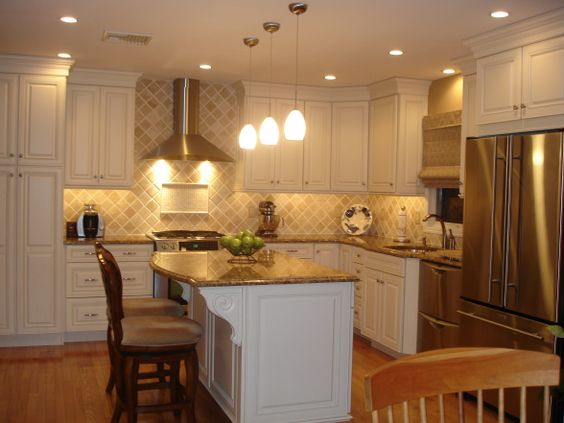 islands cabinets cream dark wood lights woods for the spaces kitchens