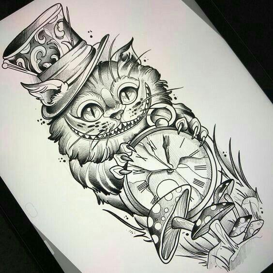Pin Von Ka Ti Auf Wonderland Tattoo Armeltatowierungen
